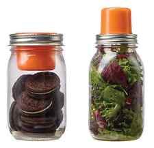 Jarware Snack Pack Fits Regular Mason Ball Canning Jars Lids - Dip, Dressing ++