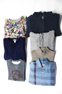 Kenzo Bonpoint Burberry Boys Sweatshirts Button Up Tops Size 8 10 12 Lot 7
