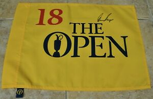 The Open Golf Flag Signed By Gary Player With Photo Proof