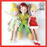 Disney Soft Toy Peter Pan Tinker Bell Lot Red + Green Stuffed Doll Plush Lot