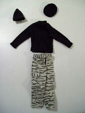 """MILITARY OUTFIT FOR 12"""" ACTION FIGURE 1/6 SCALE SHIRT PANTS BOGGAN CAP BERET"""