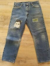 levis 505 36x30 vintage with Elvis Presley patches,