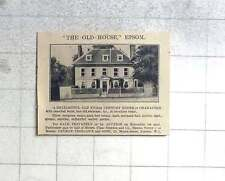 1927 The Old House, Epsom, 17th-century Nine Beds, For Sale