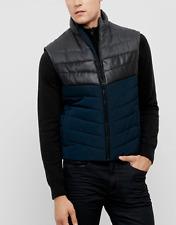 Kenneth Cole Men's Color Block Puffer Vest, Indigo Combo, Size S, MSRP $129.5