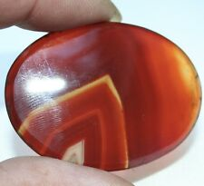 Vintage Palm Stone - A Banded Chevron Carnelian Cabuchon -Palm Stone.