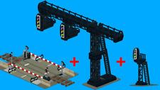 LEGO NOTICE : Instruction montage portique + Feux + Passage a niveau train