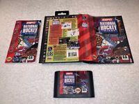 ESPN National Hockey Night (Sega Genesis, 1994) CIB Complete in Box Vr Nice~