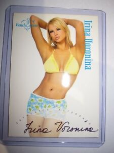 BENCHWARMER SERIE 1 2003 IRINA VORONINA AUTHENTIC AUTOGRAPH 20/20 VR CARD MINT