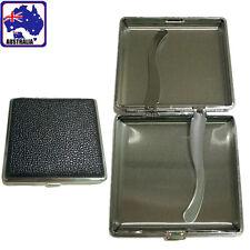20 Cigarettes Cigarette Box Cigar Tobacco Case Stainless Steel+PU TCIBO 2005