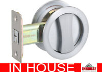 Cavity Sliding door Lock flush pull privacy function round BC