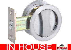 Cavity Sliding door Lock flush pull privacy function round BC
