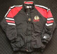 Chicago Blackhawks NHL Starter Coat Jacket Adult Large Vintage