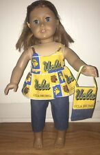 """18"""" Inch Doll Clothes UCLA Bruins Outfit New Handmade 4 Pc Pants, Top, Headband"""