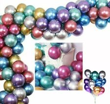 """50× Pearl Quality 12""""Baloons Multi Coloured Metalic Latex Party Hellium Baloons"""