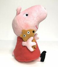 "Ty Peppa Pig Plush 8"" Retired Red Dress Pink Stuffed Toy"