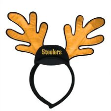 Pittsburgh Steelers Reindeer Ears Headband Holiday Hat NEW! Christmas Head Wear
