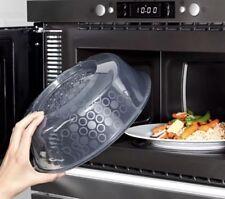 "IKEA Microwave Cover Splatter Screen Steam Release Lid 10"" Blue Gray NEW PRICKIG"