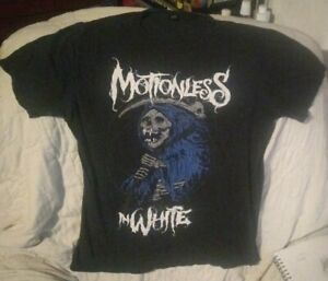 Motionless In White Band Shirt Grim Reaper Death Metal Screamo Vintage Med