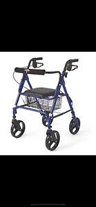 "medline Folding Rollators with 8"" Wheels 350lb Capacity Padded Seat Brand New"