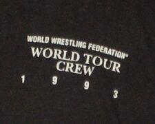 1993 WWF Wrestling World Tour CREW Men's Shirt Small Rare VTG WWE WCW ECW 90s