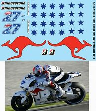 1/12 CASEY STONER HONDA RC212V TEST BIKE VALENCIA 2010  DECALS TB DECAL TBD103