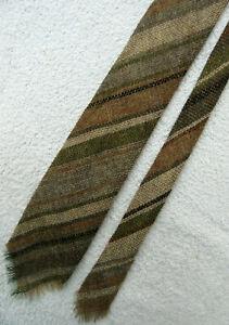beige green grey 3 inch PURE NEW WOOL necktie TIE from LOCH ARRON SCOTLAND