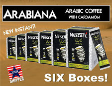 SIX BOXES NESCAFE Instant Arabiana Arabic Coffee with Cardamom. USA Shipper!