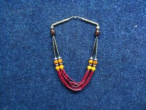 Gorgeous unusual Trible type necklace.