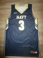 Navy Midshipmen #3 Basketball 2015 Under Armour Game used Worn Jersey LG L