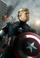 """Captain America Donald Trump Funny Sticker TRUMP 2020 3""""×4"""" **NEW SIZE**"""