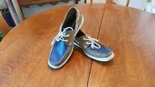 Nautica Men's Leather Boat Shoes Size 11 Multicolor