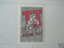 SUKERZAKJE SUGAR BAG DUTCH TT ASSEN 1966 MOTO GP WEGRACE ROADRACE