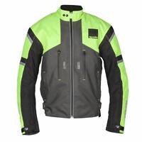 Spada Latour WP Motorcycle Motorbike Waterproof Textile Jacket - Fluo/Grey