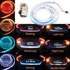 LED Car/Van/Trunk Tailgate Tail Light Turn Signal Brake Running Flow Strip Lamps