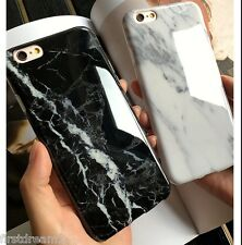 Black Marble Stone Texture Visual Soft Case Cover For iPhone 8 7Plus 6 6s Plus