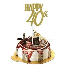40th 40 TOPPER CUPCAKES BAKING DECORATIONS PARTY CAKE BAKING BIRTHDAY gold