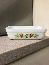 Vintage Fire King Glass Refrigerator Dish - Maple Leaf Pattern