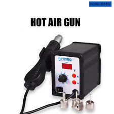 858D 220V Soldering Desoldering Station Hot Air Rework Gun Tool
