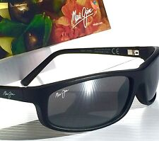 NEW* Maui Jim LEGACY Matte BLACK w POLARIZED Maui Grey Lens Sunglass 183-2M