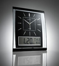 KG Electronics Silent Wall Clock - Black