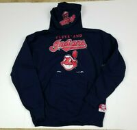 Vtg Cleveland Indians MLB 90s Nutmeg Pullover Hoodie w/ Pockets Size L USA