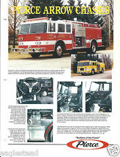 Fire Equipment Brochure - Pierce - Arrow Chassis - c1992 (DB192)