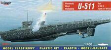 U-boot u 511 type ix b/c t-je avec sous-marin spr 42B rocket launcher 1/400 mirage
