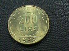 ITALY    200  Lire      1998    UNCIRCULATED