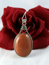 """Sterling Silver & Goldstone 18g 16""""  Necklace   CAT RESCUE"""