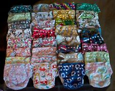 Alva Cloth Diapers/ Alvababy resuable nappies / inserts and wet bags- lot of 39