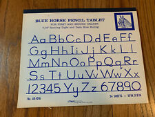 Vintage Blue Horse Pencil Tablet