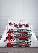 Housse de couette en polyester 240X220 cm + 2 taies d'oreiller LOVE LONDON