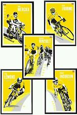 Tour de france legends posters. Specially created x 5 prints