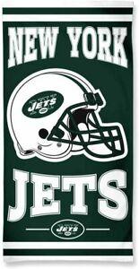 New York Jets Football Logo Helmet Bath Beach Towel Cotton 60x30 BIN World Ship